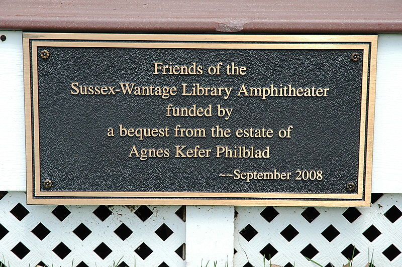 Photo of the Agnes Kefer Philblad Plaque